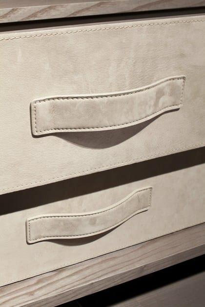 Cassettiera interna Atlante con frontali rivestiti in nabuk