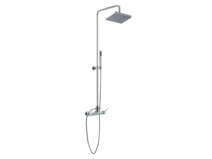 Shower panel with hand shower with overhead shower Shower panel with hand shower by Gruppo Geromin