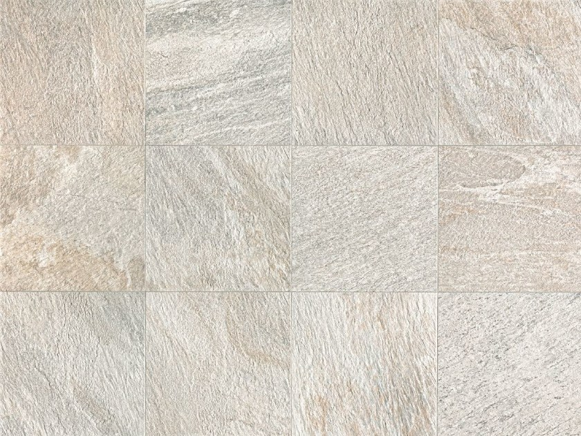Full-body porcelain stoneware wall/floor tiles with stone effect STONE D Quarzite Bianca by Italgraniti