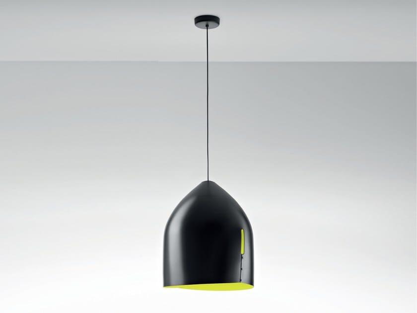 Aluminium pendant lamp ORU F25 A01 by Fabbian