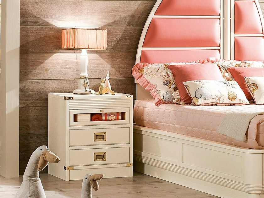 Lacquered kids' bedside table with drawers 652 | MILLERIGHE by Caroti