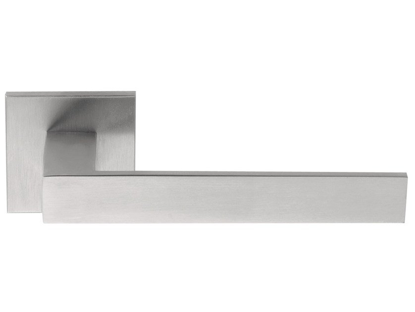 Superior Stainless Steel Door Handle On Rose SQUARE | Door Handle On Rose By Formani