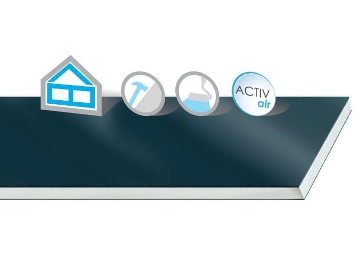 Moisture resistant gypsum plasterboard for partition walls Habito Vapor 13 Activ'Air® by Saint-Gobain Gyproc