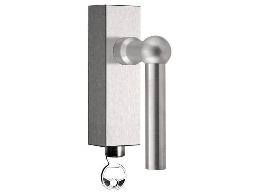 DK stainless steel window handle with lock FERROVIA | Window handle with lock by Formani