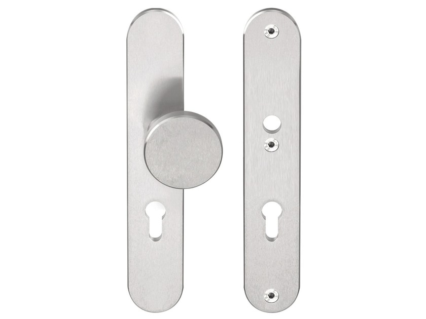 Stainless steel door knob with lock BASIC | Door knob with lock by Formani