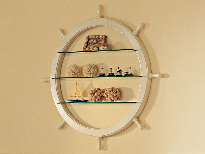 Wall-mounted crystal bookcase 954 | SHIP'S WHEEL by Caroti