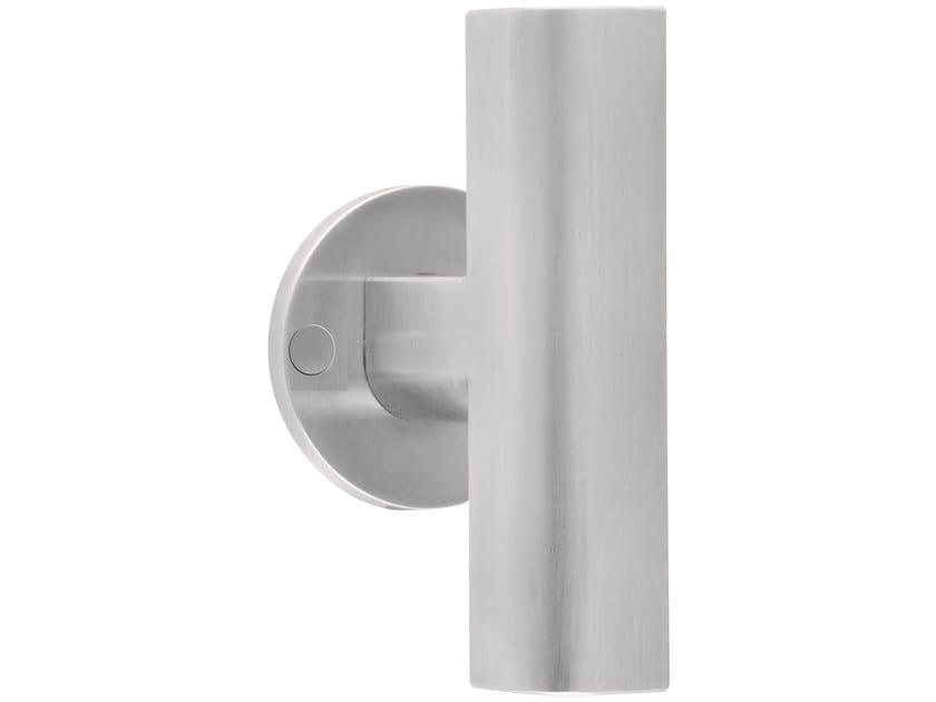 Stainless steel door handle on rose TWO | Door handle on rose by Formani