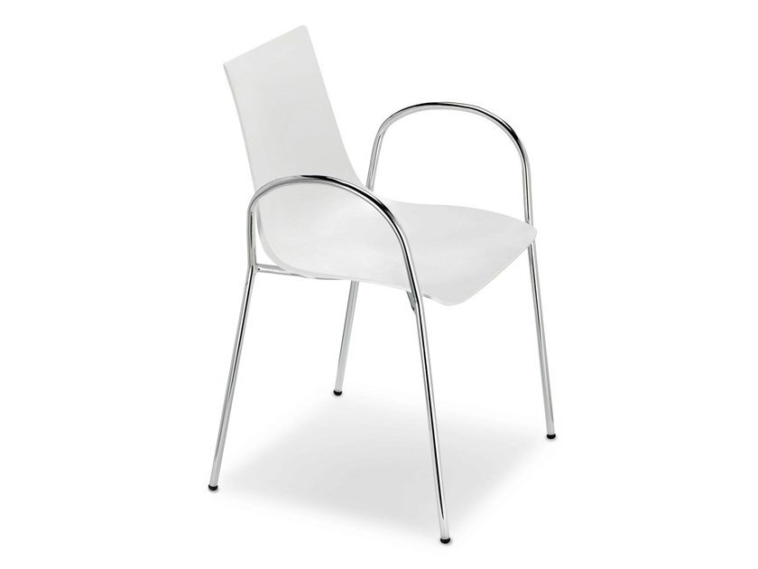 Technopolymer chair with armrests ZEBRA TECNOPOLIMERO | Chair with armrests by SCAB DESIGN