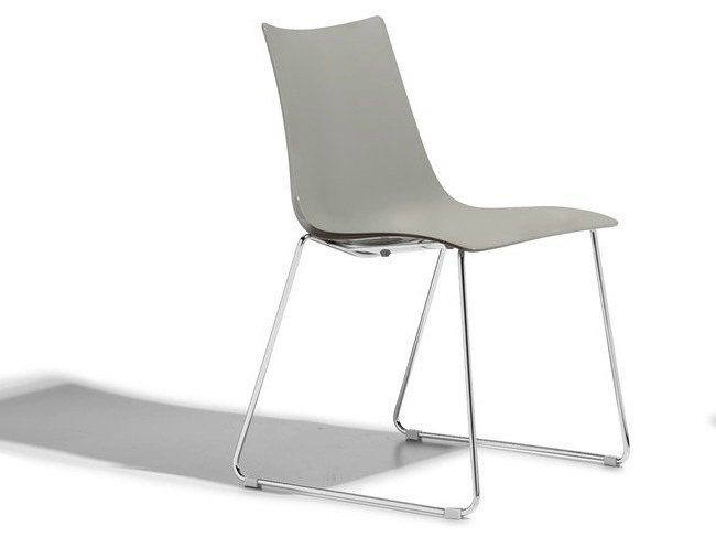 Sled base stackable technopolymer restaurant chair ZEBRA TECNOPOLIMERO | Sled base chair by SCAB DESIGN