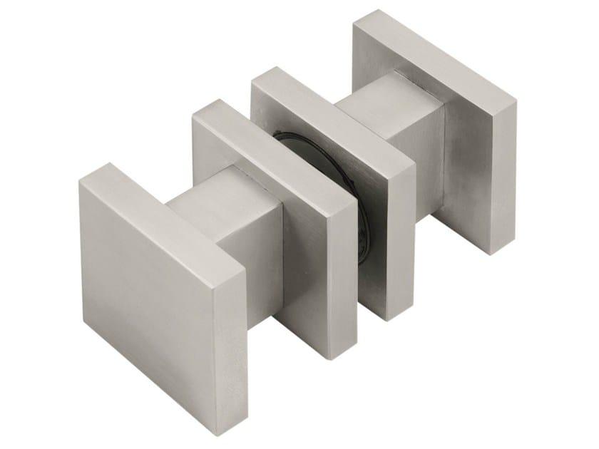 Stainless steel glass door handle SQUARE | Glass door handle by Formani
