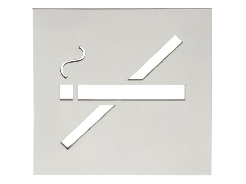 Stainless steel sign SQUARE   Sign by Formani