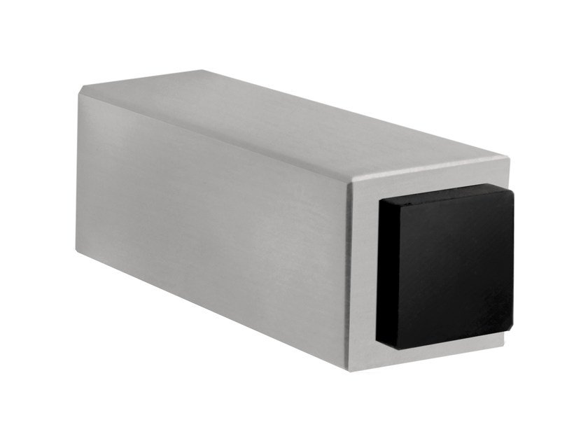 Stainless Steel Wall Mounted Doorstop SQUARE | Doorstop By Formani