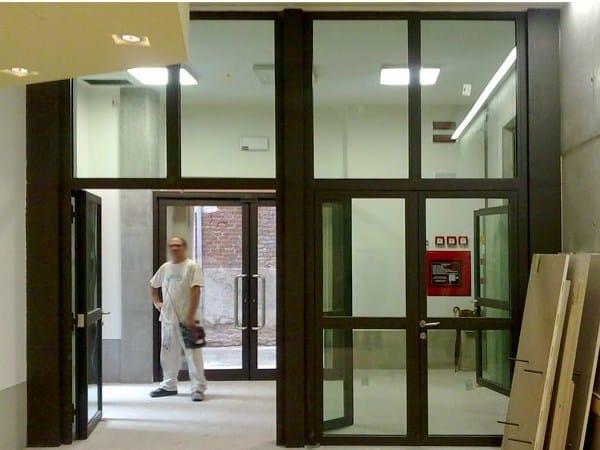 Glass Fire door ISOFIREGLAS® STEELSWING by Sanco