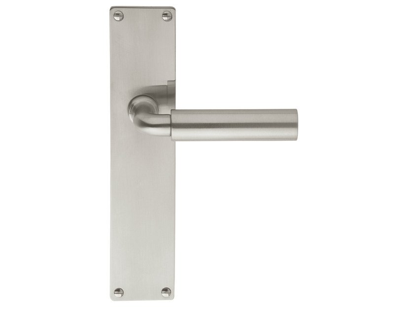 Nickel door handle on back plate TIMELESS 1923 | Nickel door handle by Formani