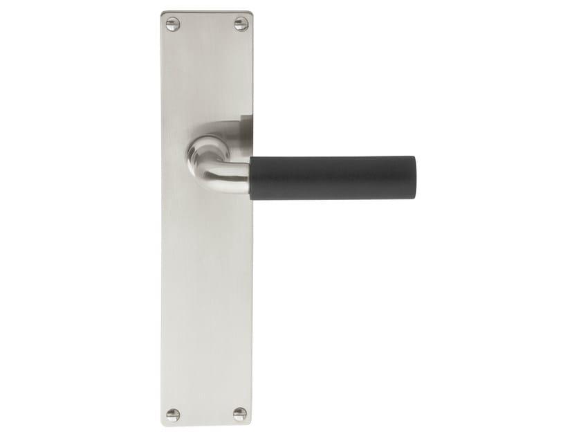 Ebony door handle on back plate TIMELESS 1923 | Ebony door handle by Formani