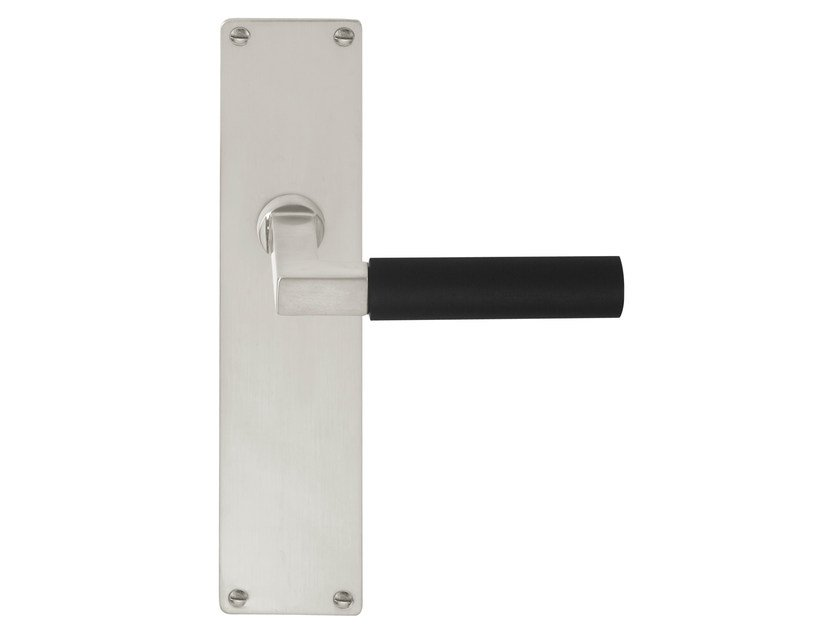 Ebony door handle on back plate TIMELESS 1930 | Ebony door handle by Formani