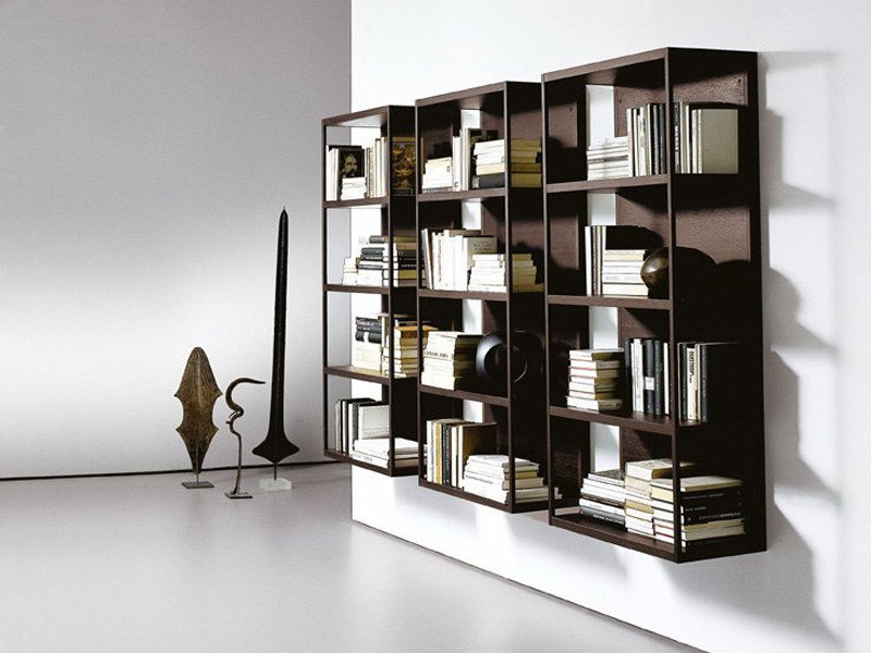 Wall-mounted sectional bookcase WALLBOX by EmmeBi