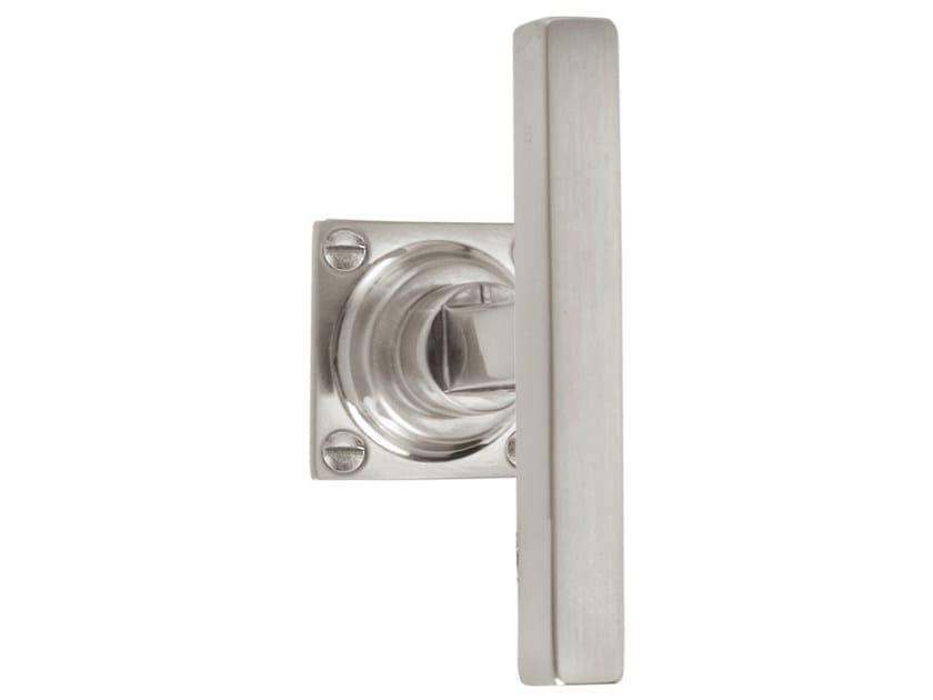 Nickel door handle on rose TIMELESS 1936 | Door handle on rose by Formani
