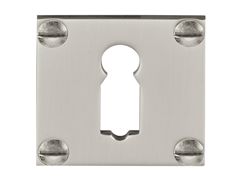 Square brass keyhole escutcheon TIMELESS | Square keyhole escutcheon by Formani