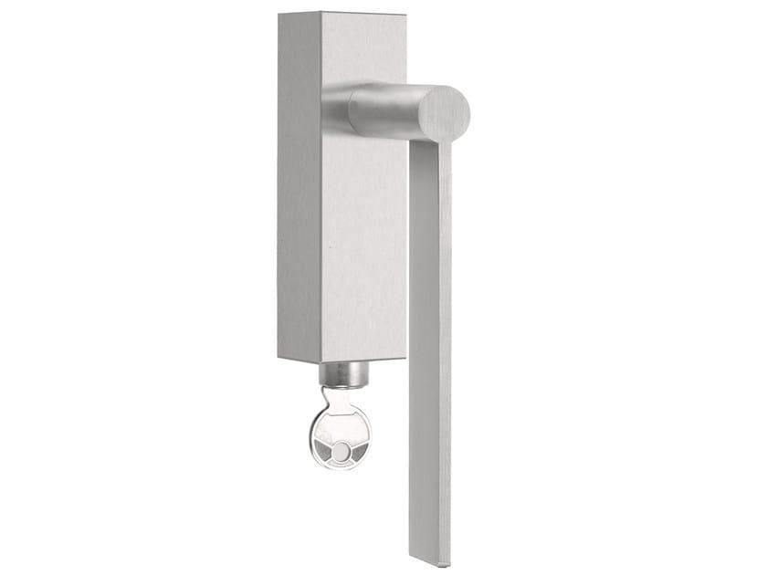 DK stainless steel window handle with lock EDGY   Window handle with lock by Formani