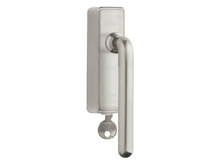 DK nickel window handle with lock TIMELESS 1921 | Window handle with lock by Formani