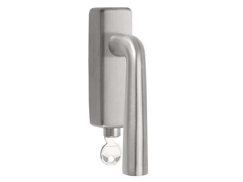 DK stainless steel window handle with lock BASIC | Window handle with lock by Formani