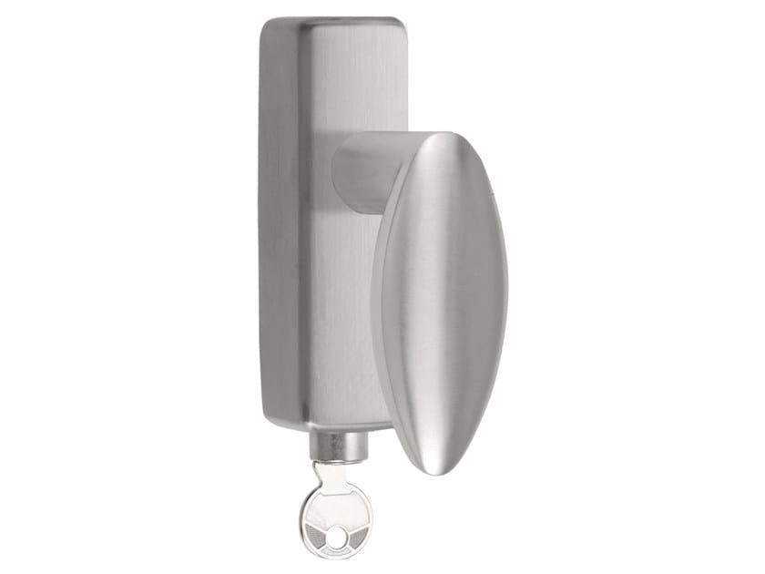 DK stainless steel window handle with lock BASIC | Window handle with lock by Formani