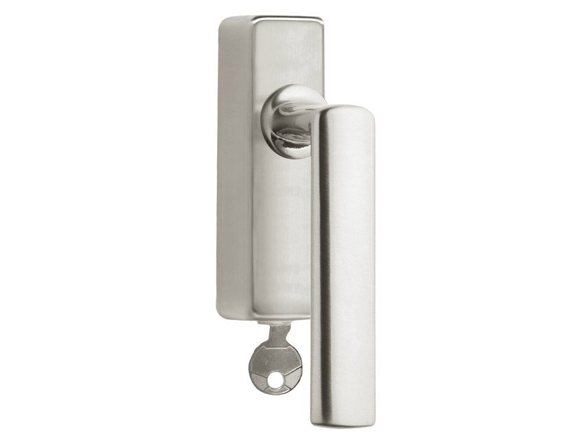 DK nickel window handle with lock TIMELESS 1929 | Window handle with lock by Formani