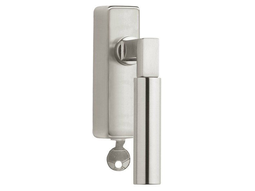 DK nickel window handle with lock TIMELESS 1930 | Window handle with lock by Formani