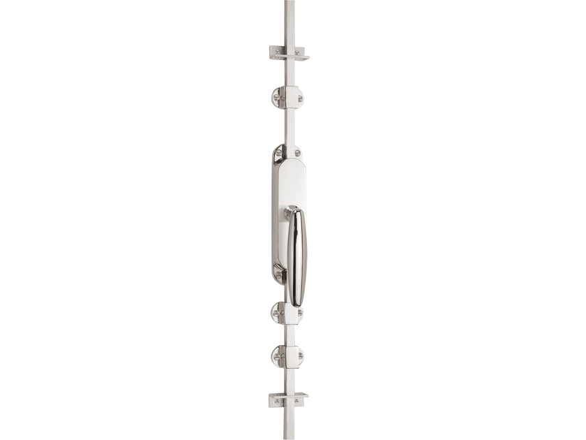 Nickel DK espagnolette bolt TIMELESS 1939 | Window handle on back plate by Formani