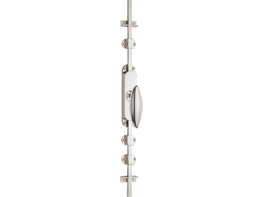 Nickel DK espagnolette bolt TIMELESS 1940 | Window handle on back plate by Formani
