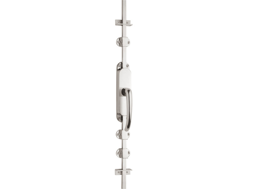 Nickel DK espagnolette bolt TIMELESS 1922 | Window handle on back plate by Formani