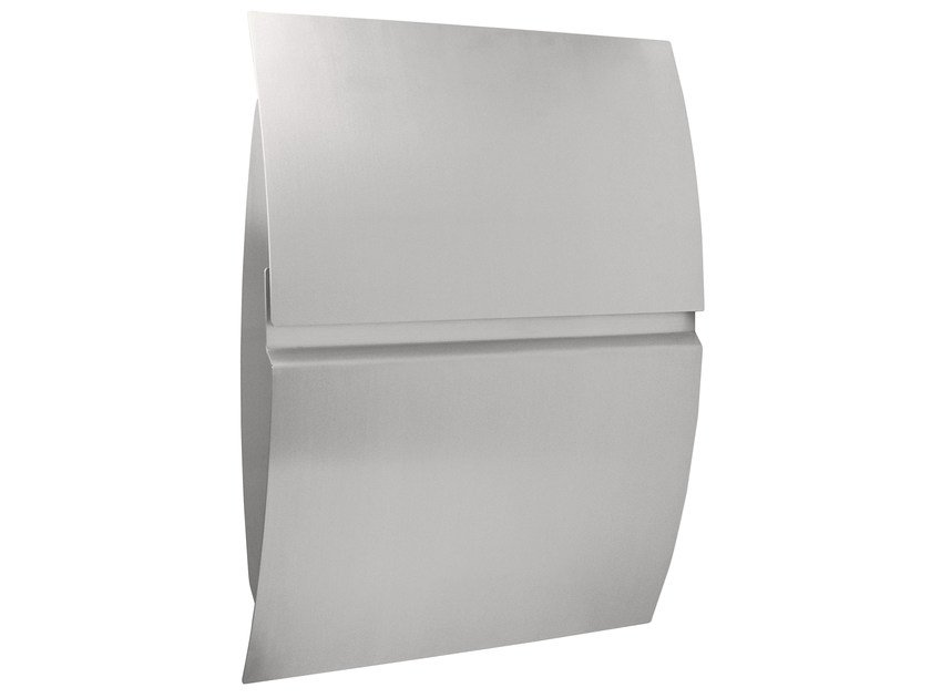 One-sided outdoor stainless steel mailbox VEGA by Formani
