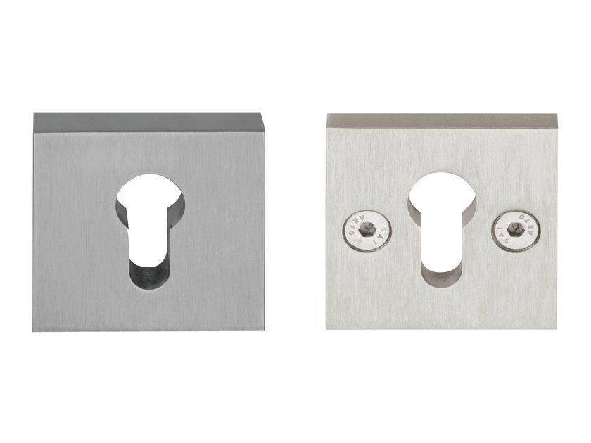 Square metal keyhole escutcheon TIMELESS | Square keyhole escutcheon by Formani