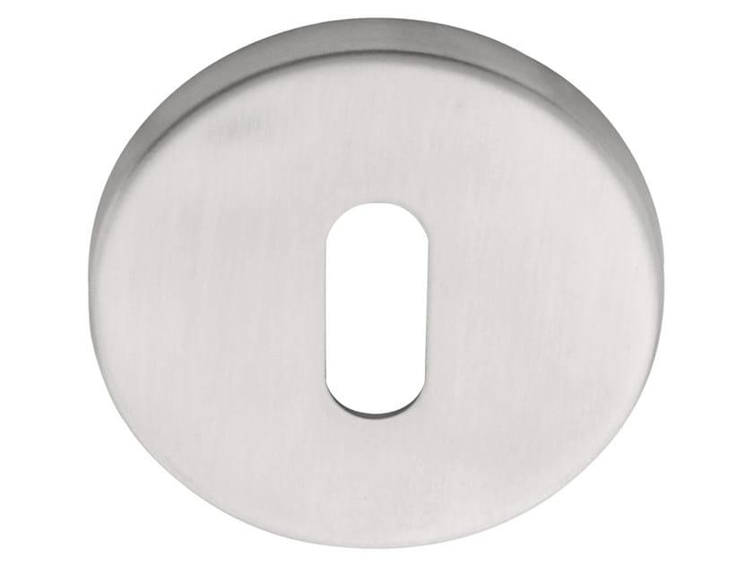 Round stainless steel keyhole escutcheon BASIC | Round keyhole escutcheon by Formani
