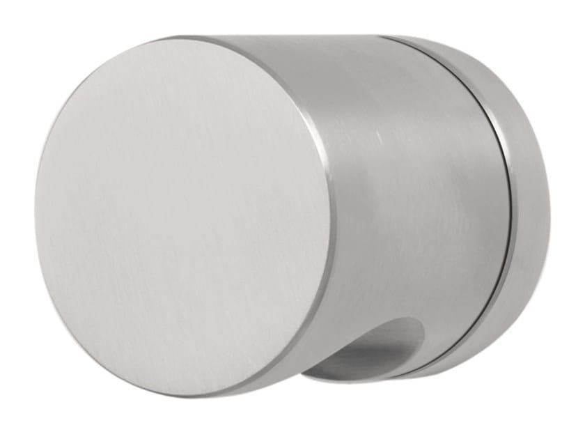 Stainless steel door handle on rose BASIC | Door handle by Formani