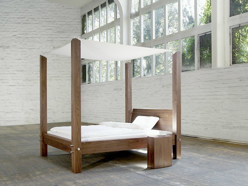 Double bed 317 | Canopy bed by Wissmann raumobjekte