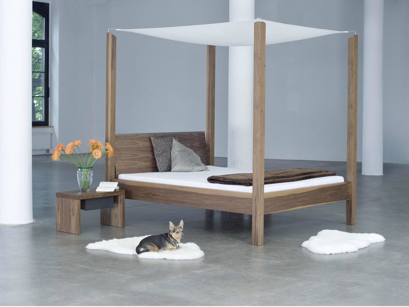 Double bed 323 | Canopy bed by Wissmann raumobjekte