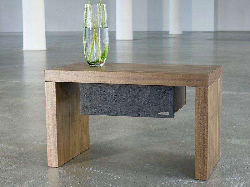 Rectangular bedside table 323-NT | Bedside table by Wissmann raumobjekte