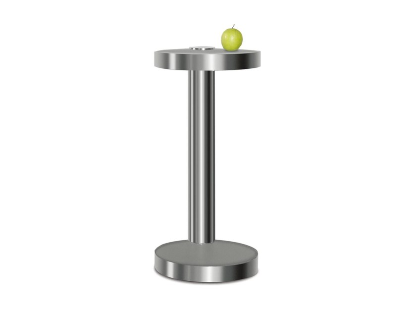 Round steel high side table for living room 519-70 by Wissmann raumobjekte