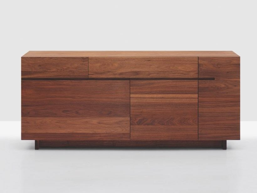 Wooden sideboard with doors with drawers SIDE by ZEITRAUM