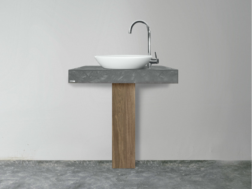 Single washbasin countertop 702 | Washbasin countertop by Wissmann raumobjekte