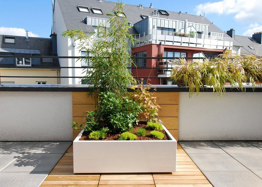 Fiber cement planter ICB by IMAGE'IN