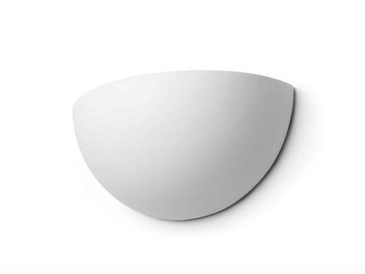 Indirect light ceramic wall light 182420   Wall lamp half shell by THPG