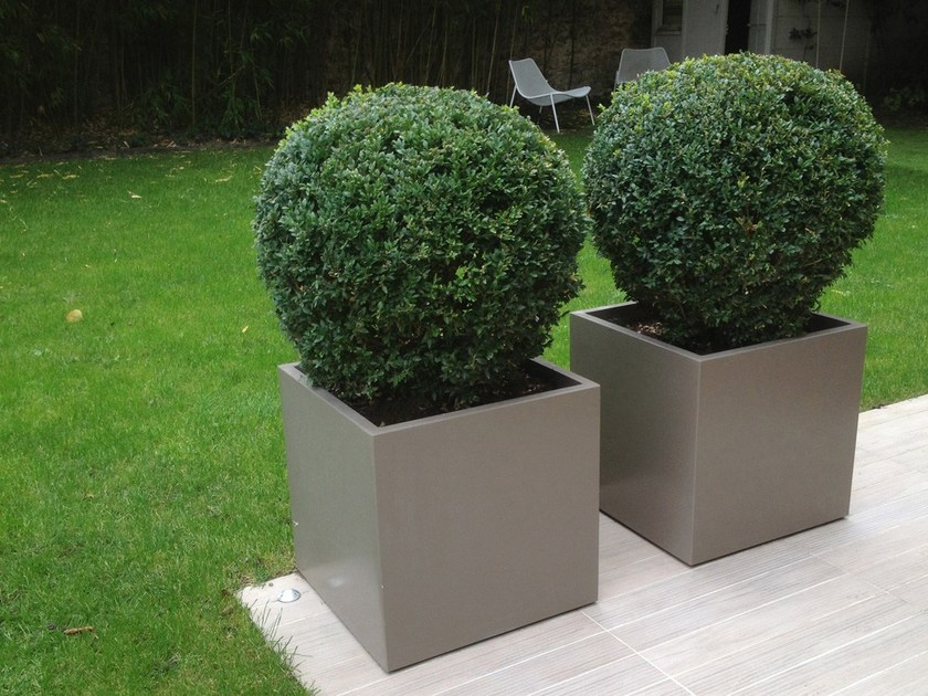 Fiber cement planter ICC by IMAGE'IN