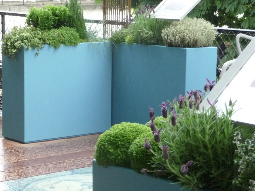 Fiber cement planter Customs planters by IMAGE'IN