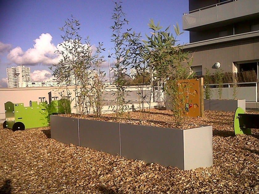 Fiber cement Flower pot Planter for public spaces by IMAGE'IN