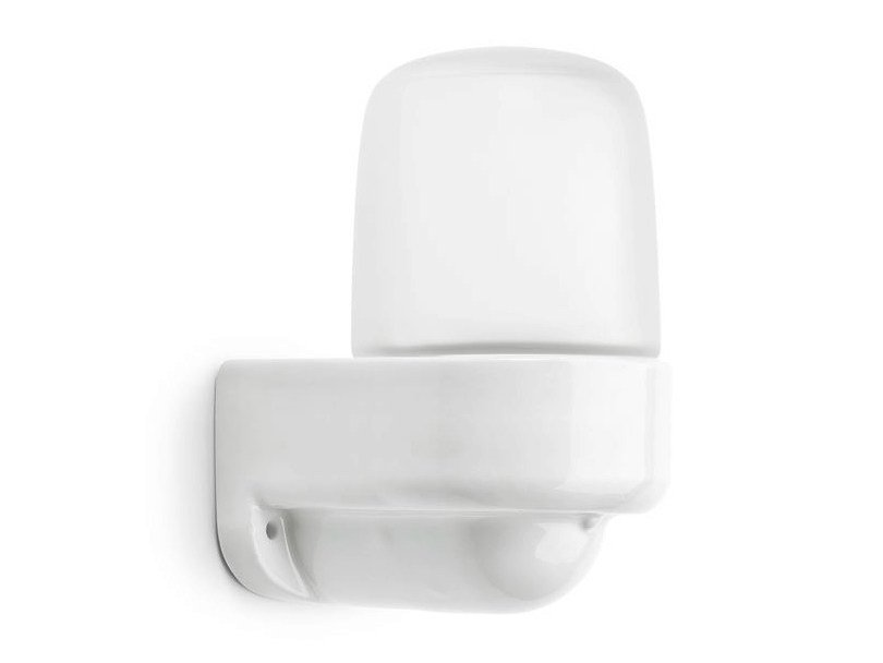 Frosted glass wall lamp with fixed arm LINDNER SAUNA - 139634 by THPG