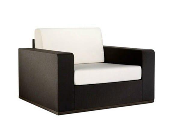 Vinytex garden armchair with armrests MOOD | Garden armchair by Bivaq