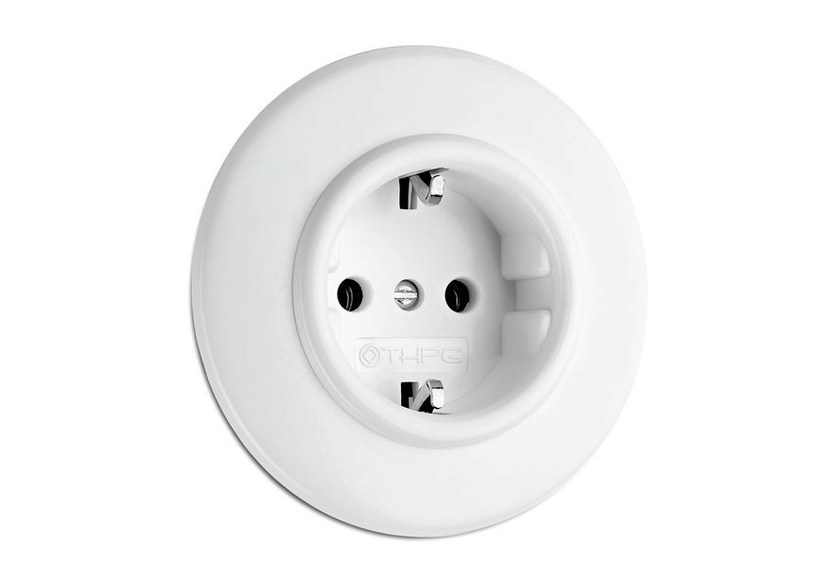 Single plastic electrical outlet 176400 | Outlet duroplast by THPG